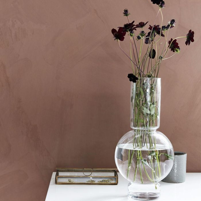 Bubbel vase H35 - klar