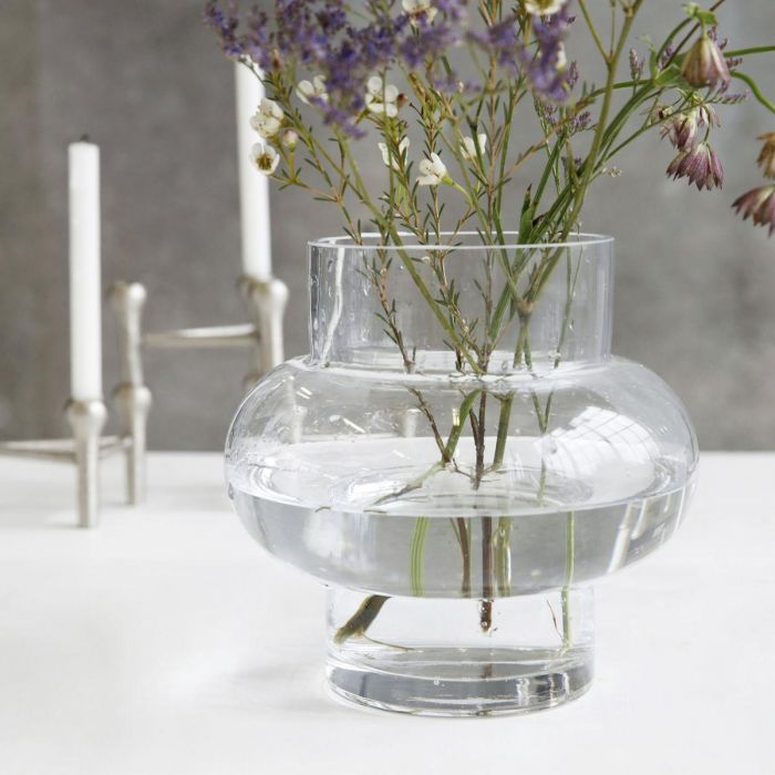 Lowa vase Ø17 - klar