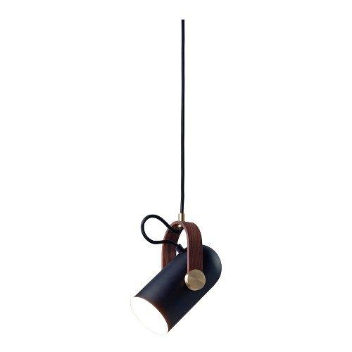 Carronade taklampe pendel - sort/messing/valnøtt