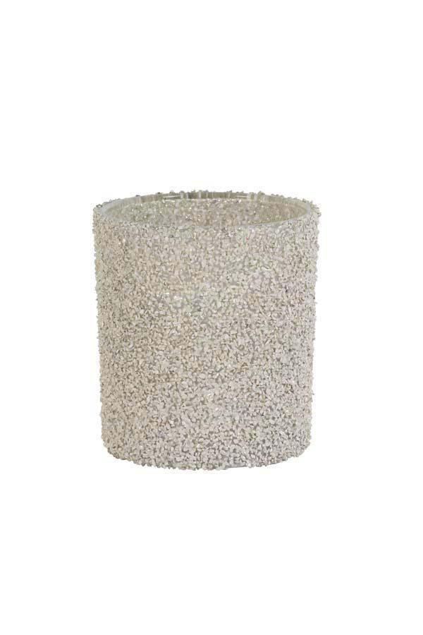 Managua lysholder - hvit/sølv