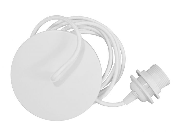 Pendeloppheng rosett - hvit