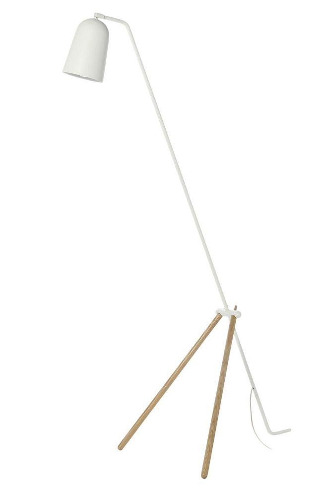 Giraffe gulvlampe - hvit/eik