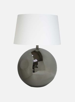 Palla bordlampe - blank sølv