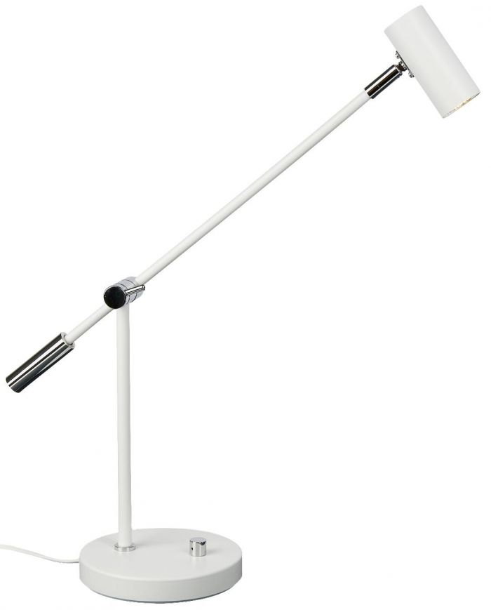 Cato LED bordlampe - matt hvit