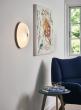 Lamella taklampe Ø35 - hvit/gull