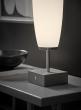 Zenta LED bordlampe - krom/hvit