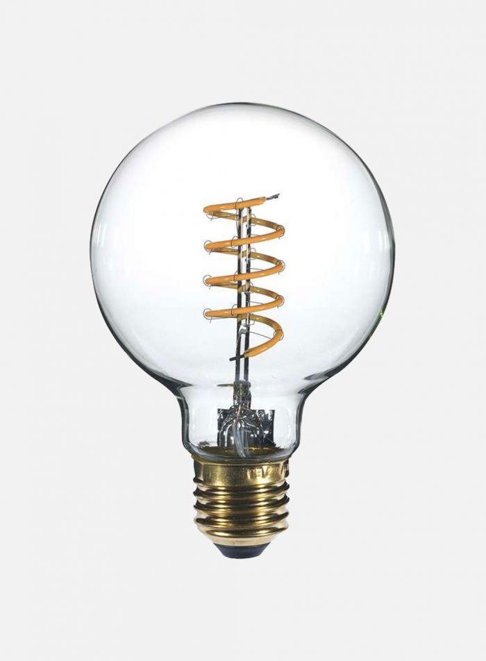 LED-pære Globe E27 9W  spiral