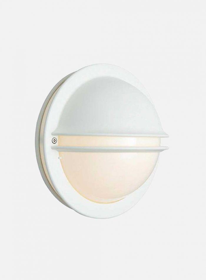 Berlin 611 utelampe - hvit/opal