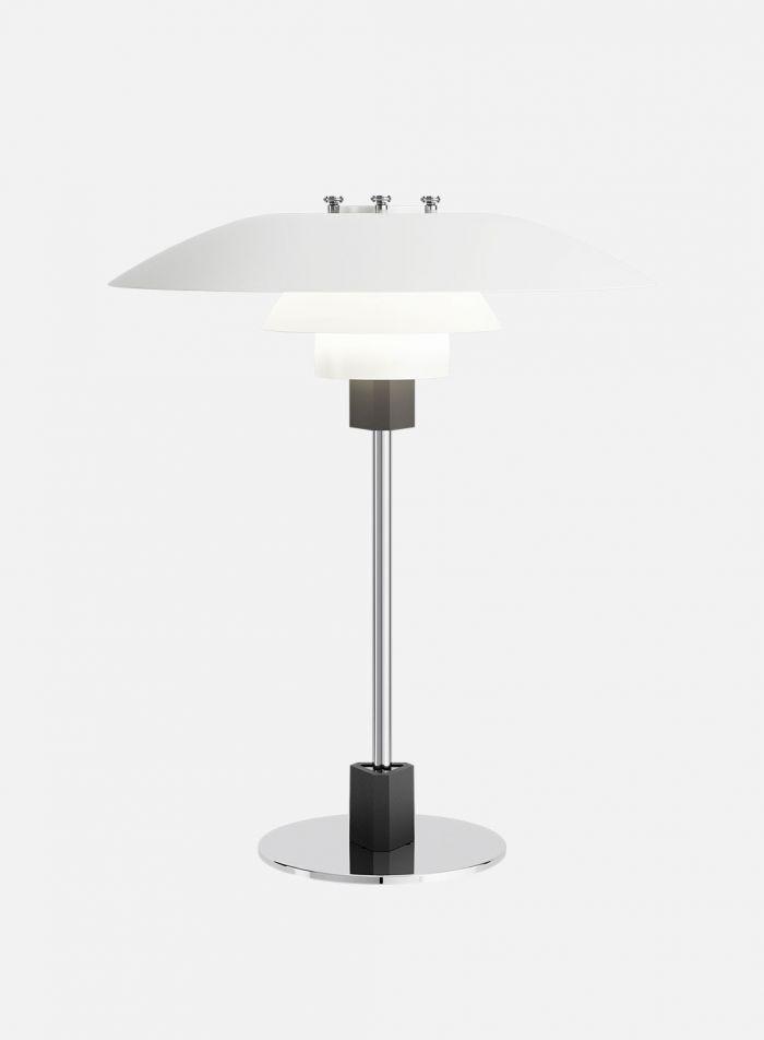 PH 4/3 bordlampe - krom/opal