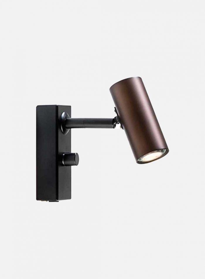 Cato LED vegglampe 1 lys dimmer - oxid