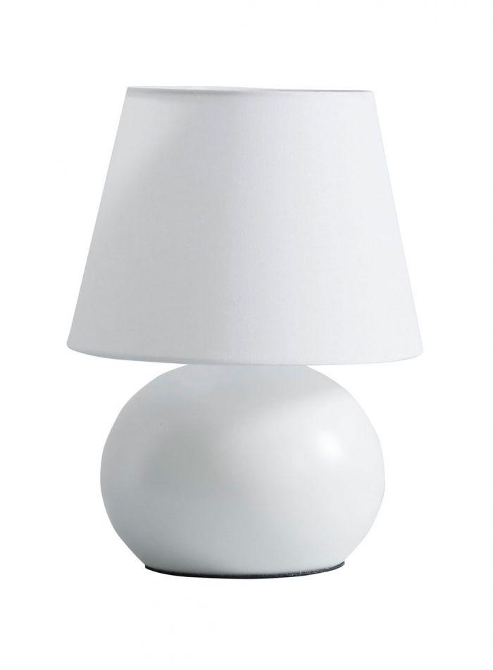 Lina bordlampe - hvit/hvit