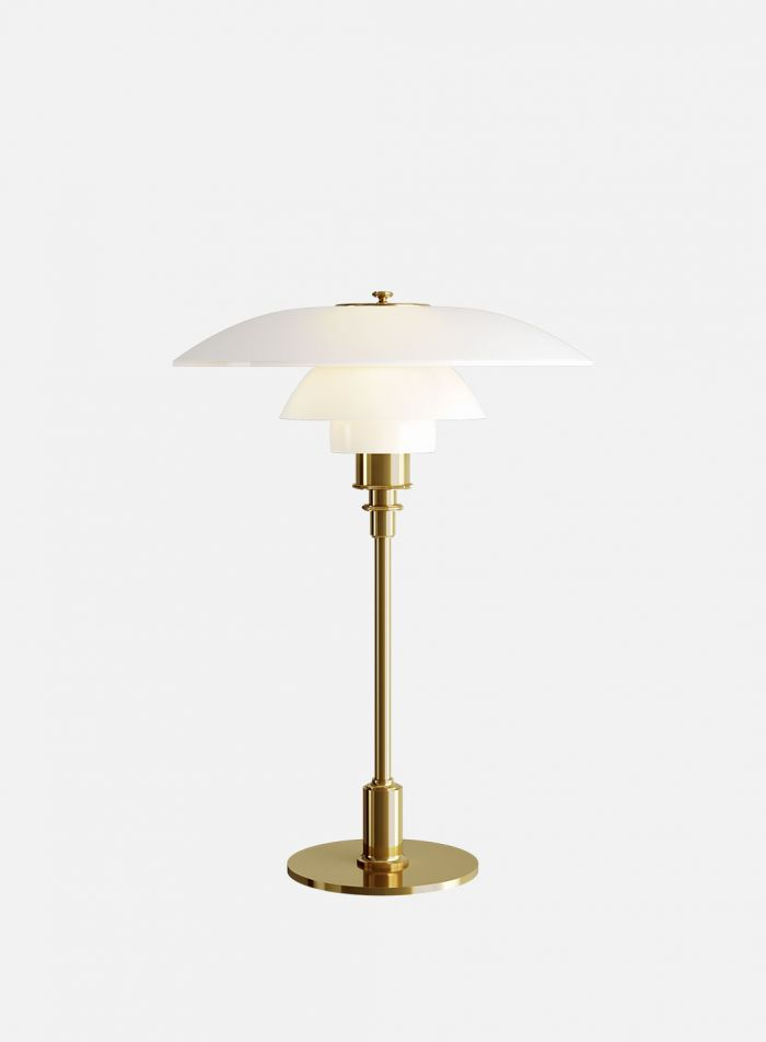 PH 3/2 bordlampe - messing/opal