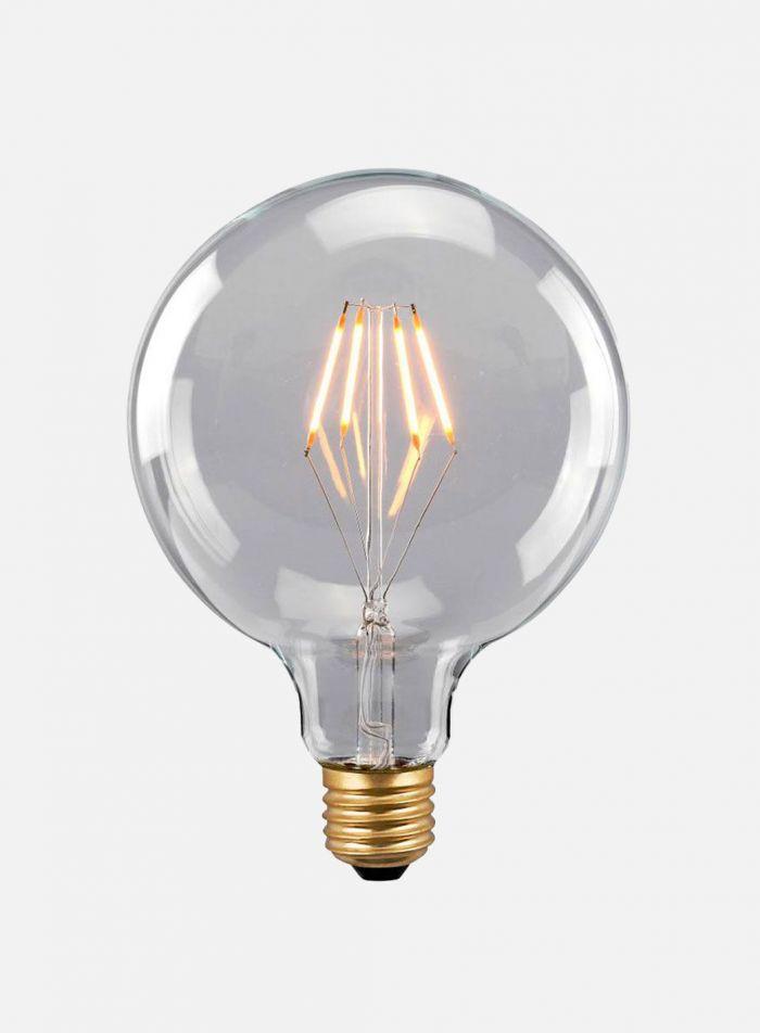 LED-pære Globe E27 4W - klar