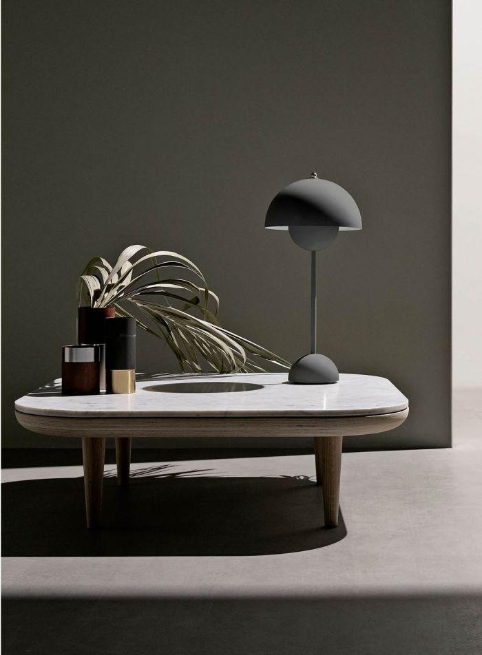 Flowerpot VP3 bordlampe - matt mørkegrå