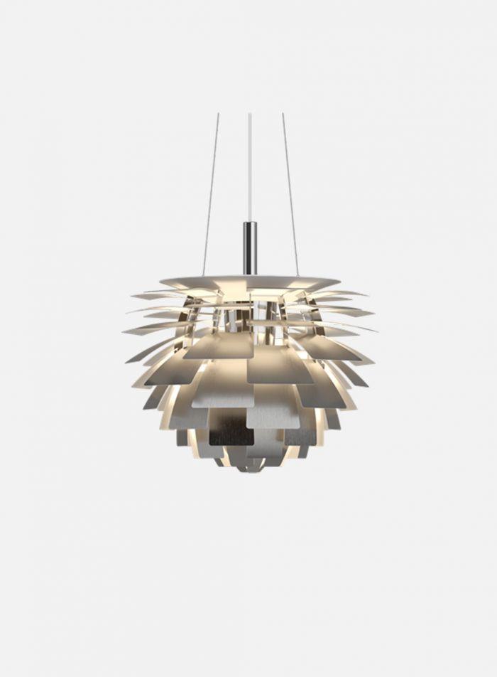 PH Kongle taklampe Ø48 - børstet stål