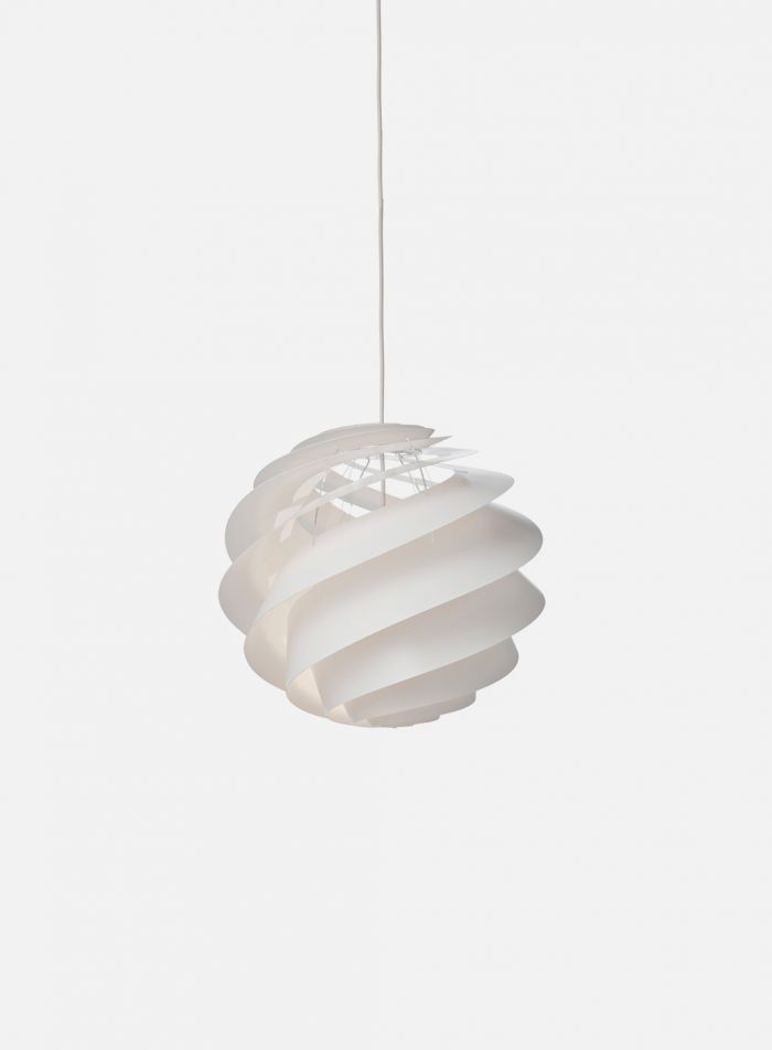 Swirl 3 taklampe Ø32 - hvit