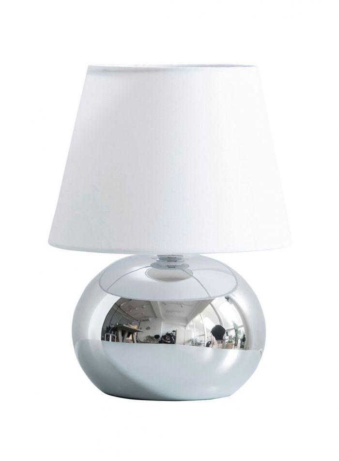 Lina bordlampe - krom/hvit