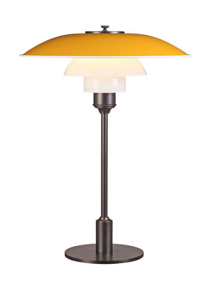 PH 3 1/2-2 1/2 bordlampe - gul/brunert