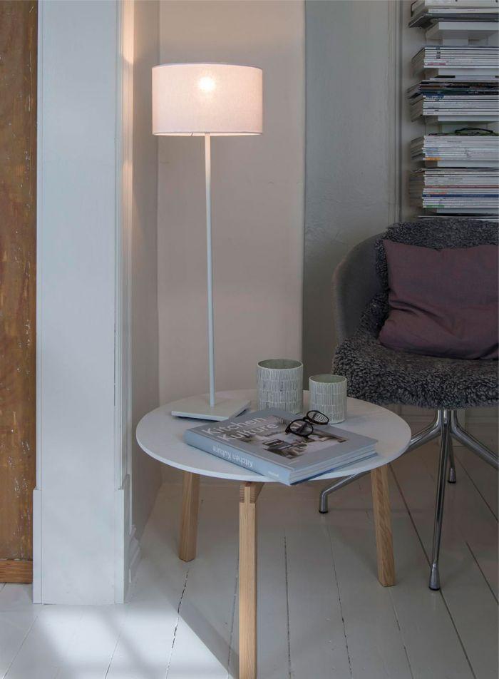 Kung bordlampe H71 - hvit