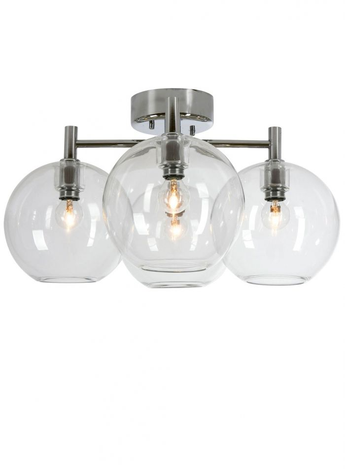 Gloria taklampe 4 lys - krom/klar