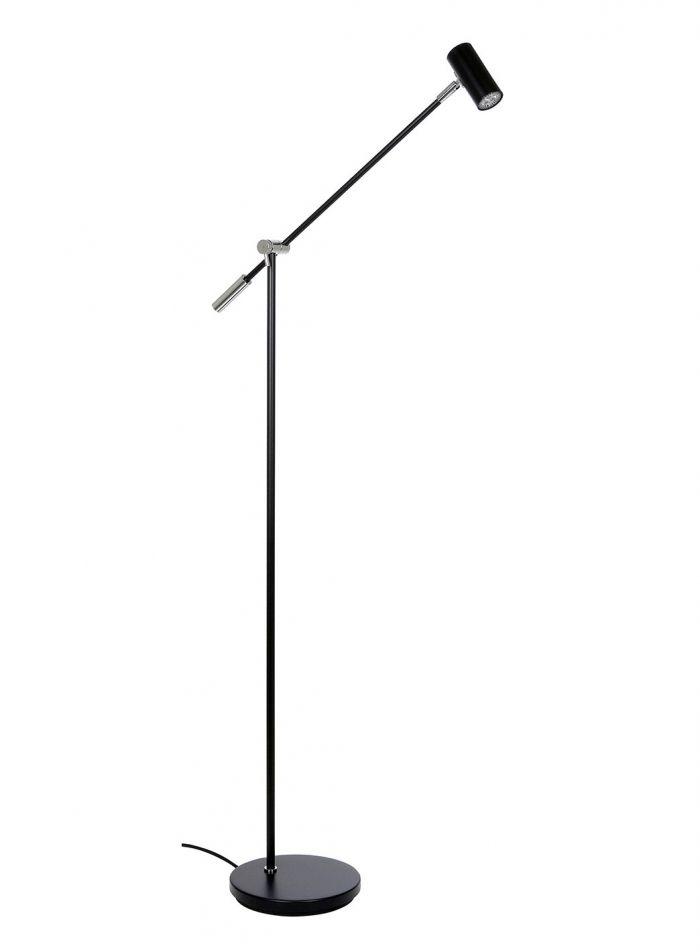 Cato LED gulvlampe dimmer - sort
