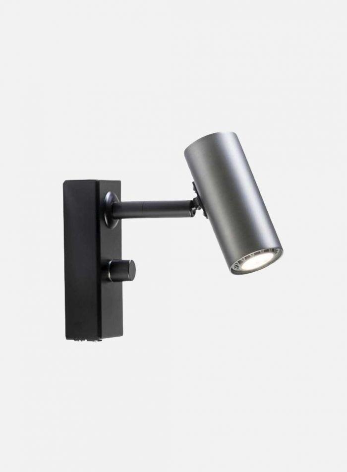 Cato LED vegglampe 1 lys - oxidgrå