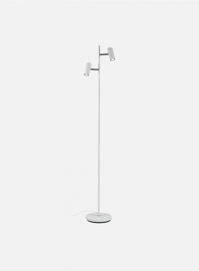 Cato LED duo gulvlampe - matt hvit