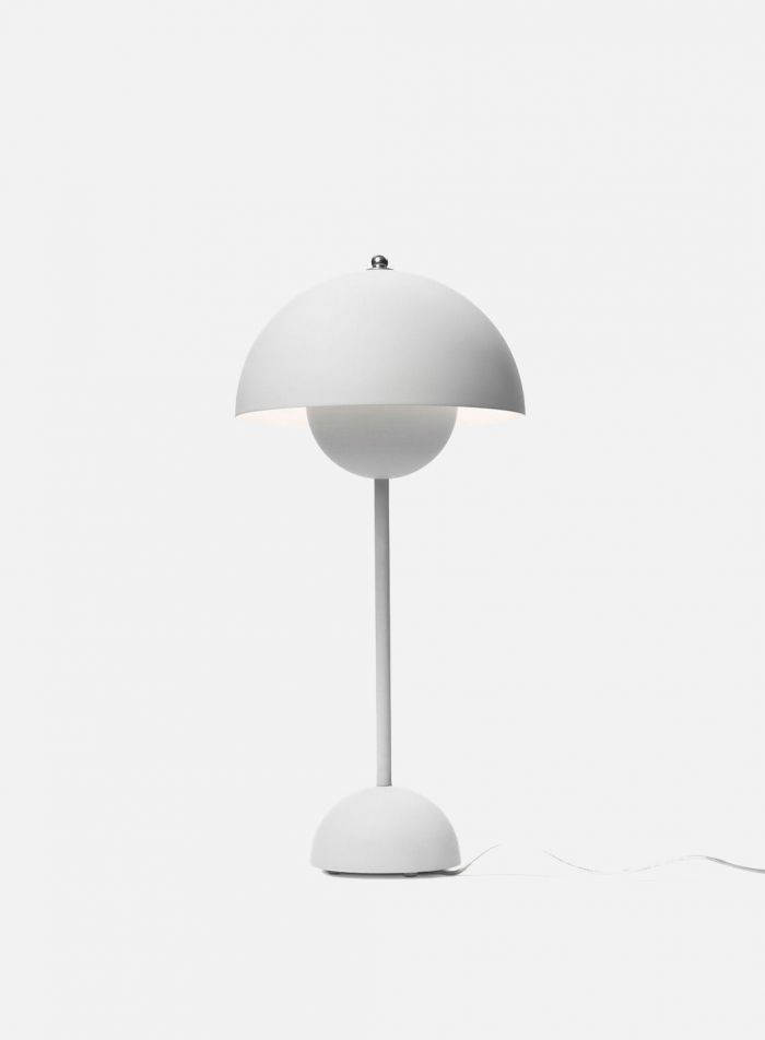 Flowerpot VP3 bordlampe H50 - matt lys grå