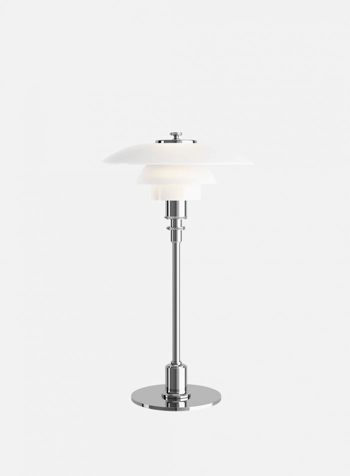 PH 3/2 bordlampe - hvit/krom