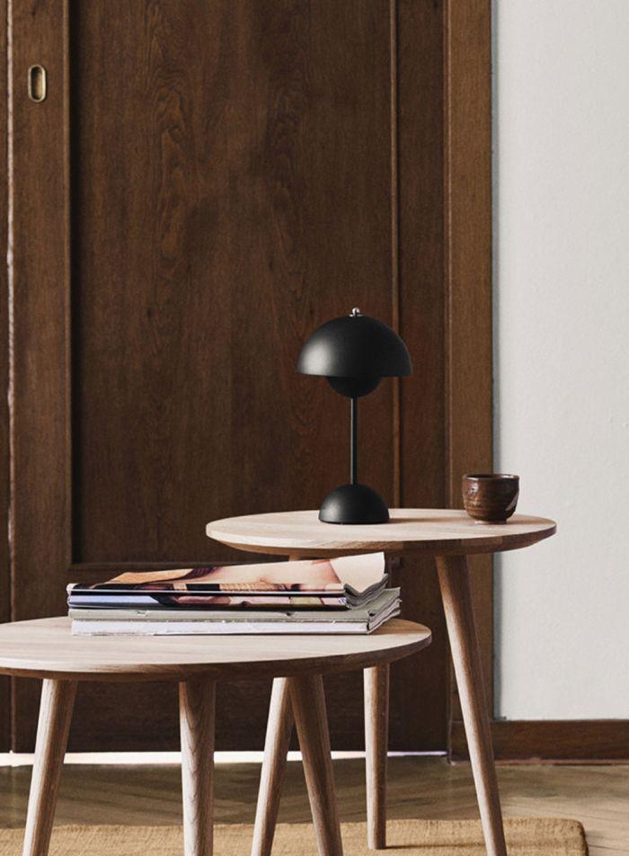 Flowerpot VP9 bordlampe bærbar - matt sort
