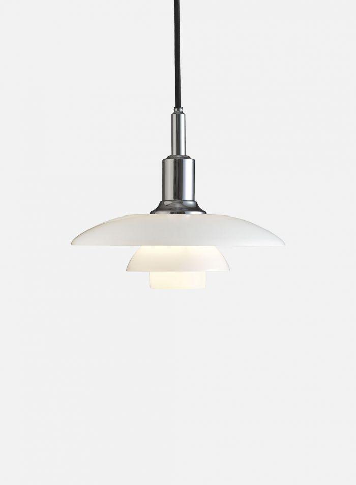 PH 3/2 taklampe - krom/opal