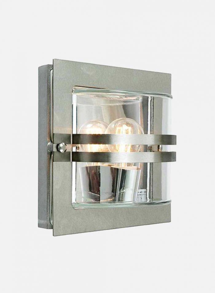 Bern 650 utelampe - rustfritt stål/klar
