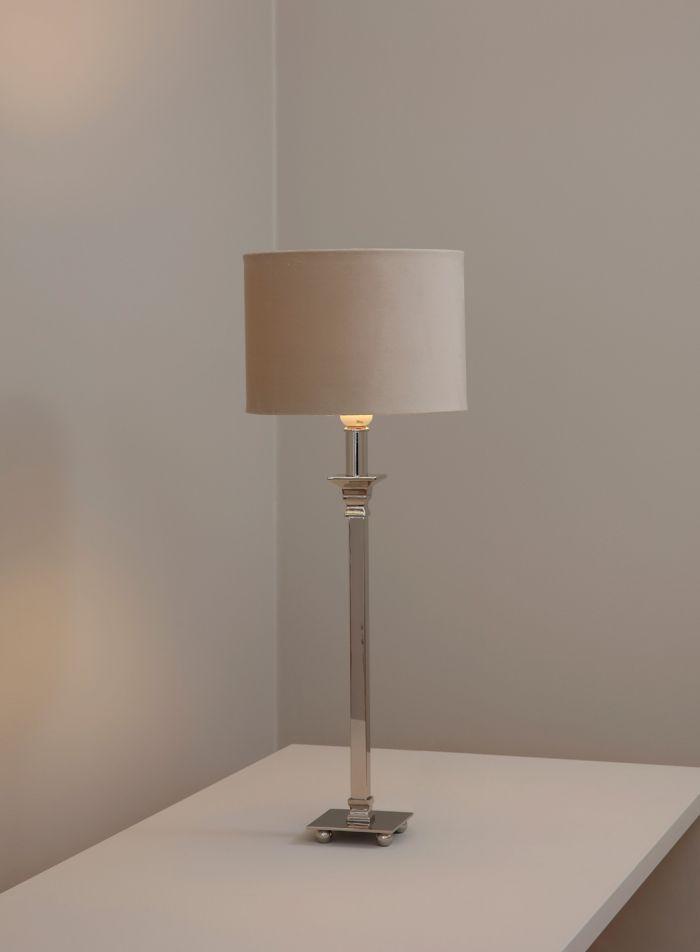 Nickie bordlampe - sølv