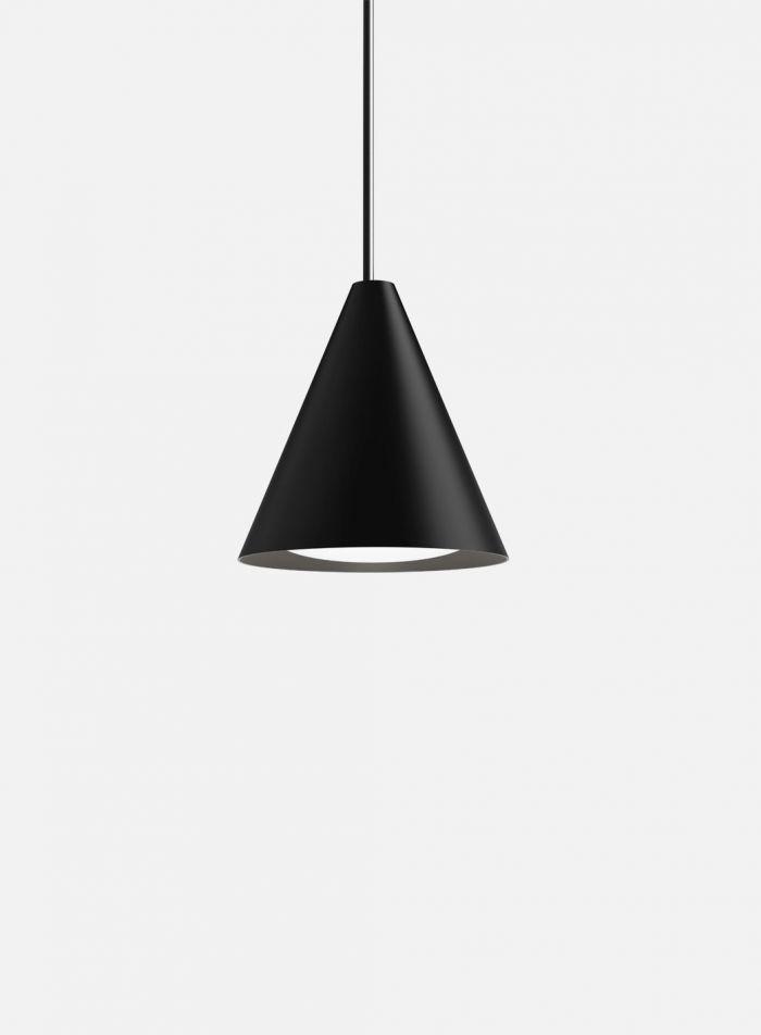 Keglen taklampe Ø25 - sort