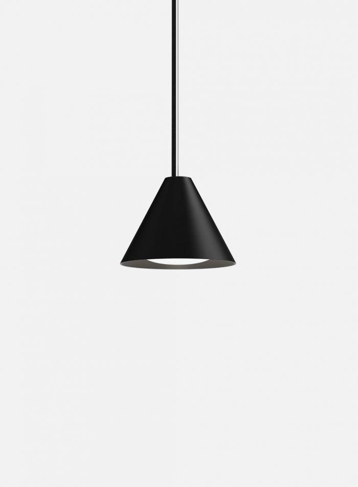 Keglen taklampe Ø17,5 - sort