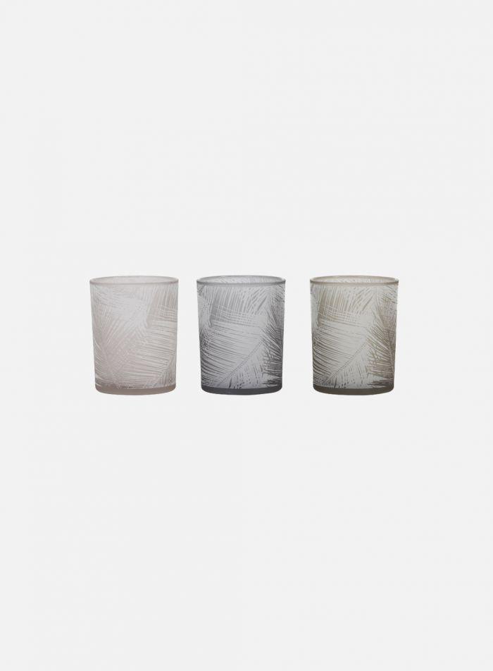Sylver telysholder 3 stk - hvit