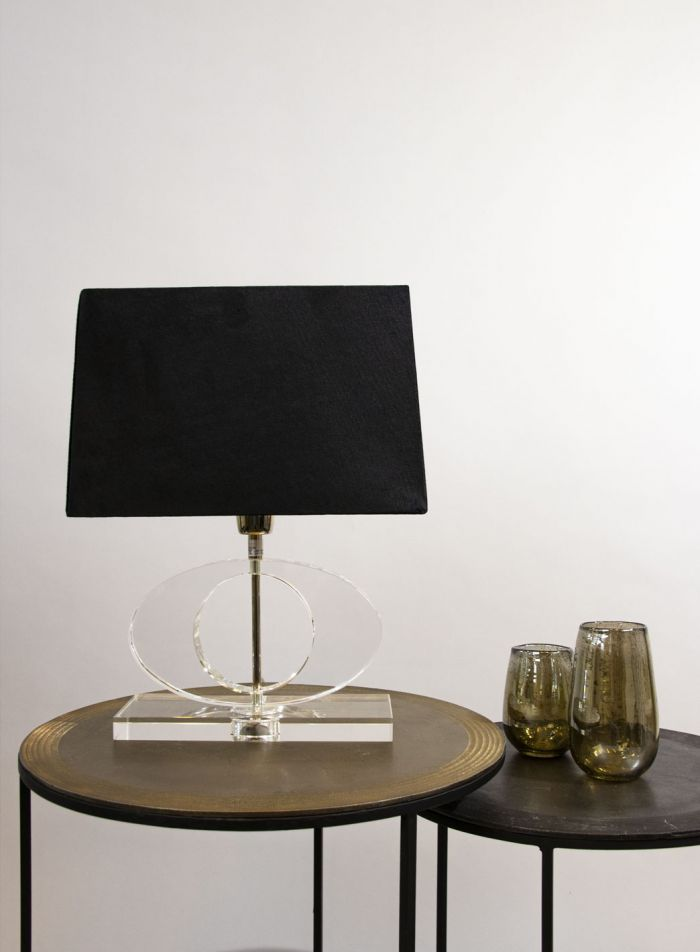 Circle bordlampe - krom/klar