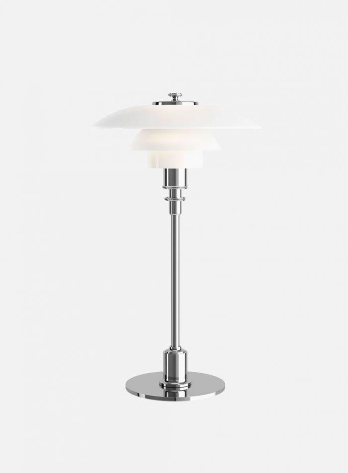 PH 3 1/2-2 1/2 bordlampe - krom/opal
