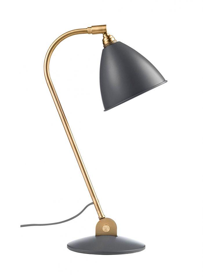 Bestlite BL2 bordlampe - messing/grå