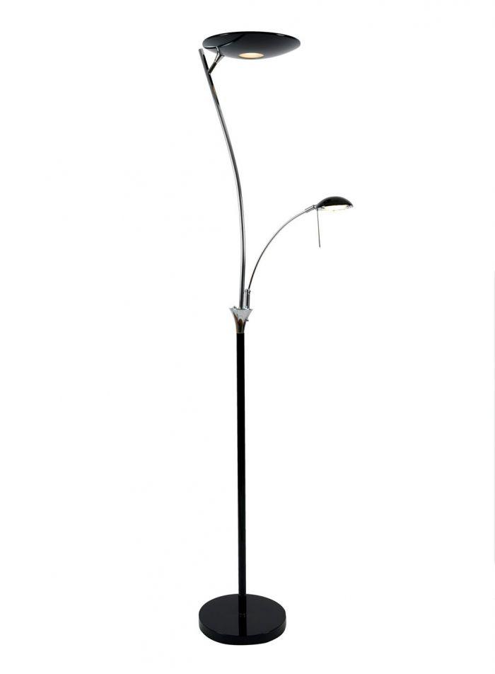 Otto LED gulvlampe - sort/krom