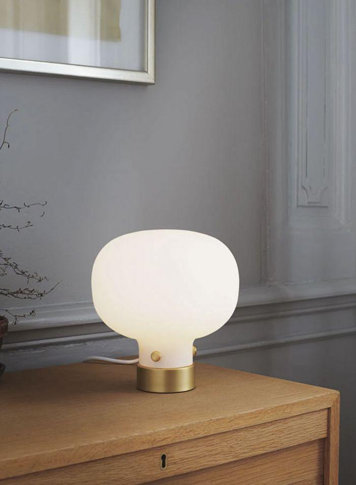 Raito bordlampe H21 - opal/messing