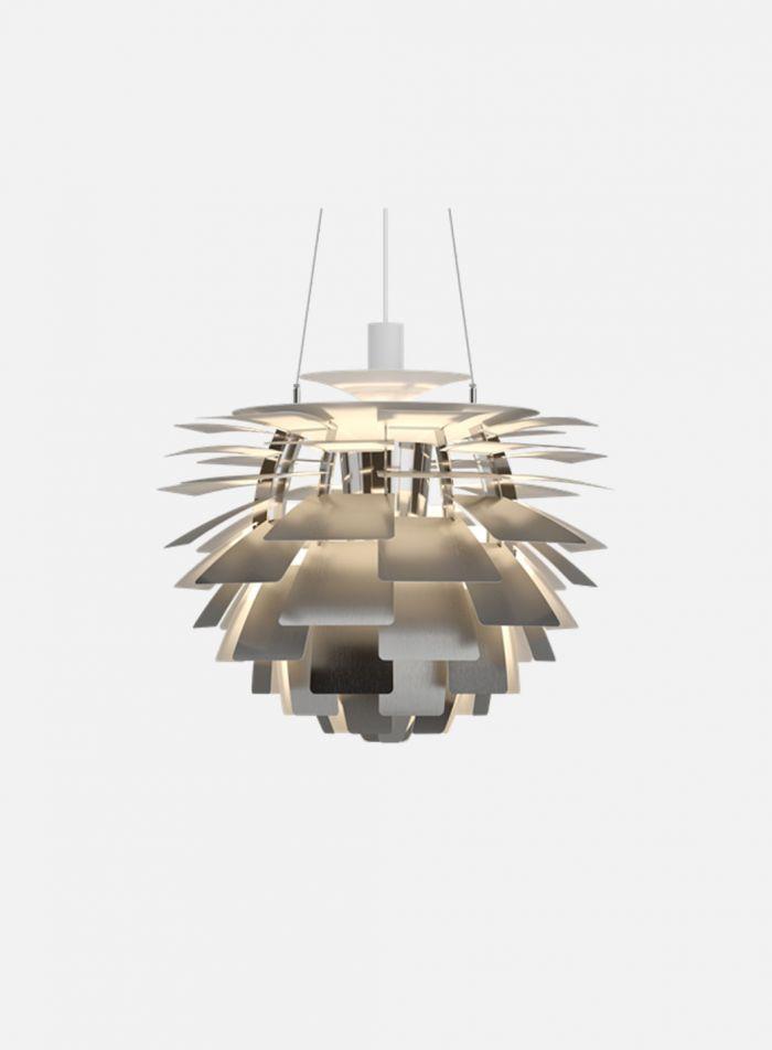 PH Kongle taklampe Ø60 - børstet stål