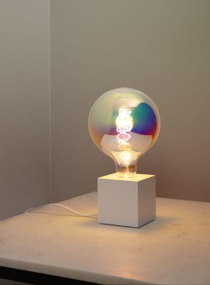 LED-pære Globe E27 3W - neon/unicorn