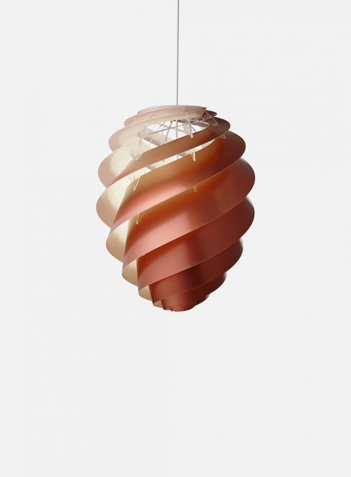 Swirl 2 taklampe Ø36 - kobber