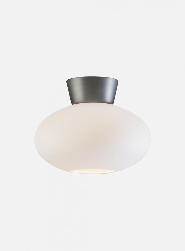 Bullo taklampe - oxidgrå/opal