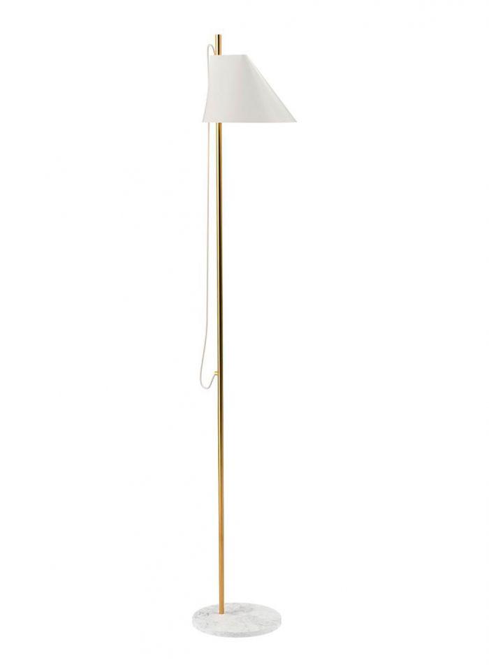 Yuh gulvlampe - hvit/hvit messing