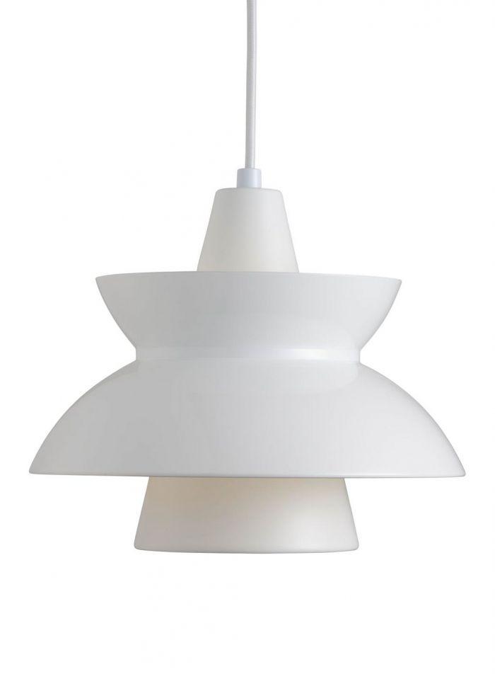 Doo-wop taklampe - hvit