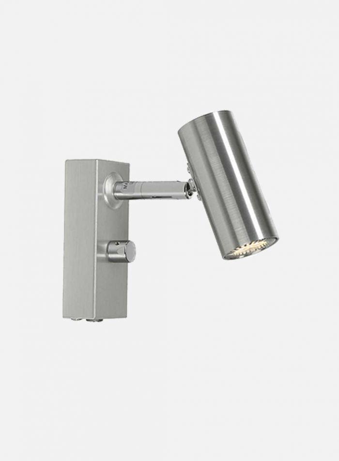 Cato LED vegglampe 1 lys - aluminium