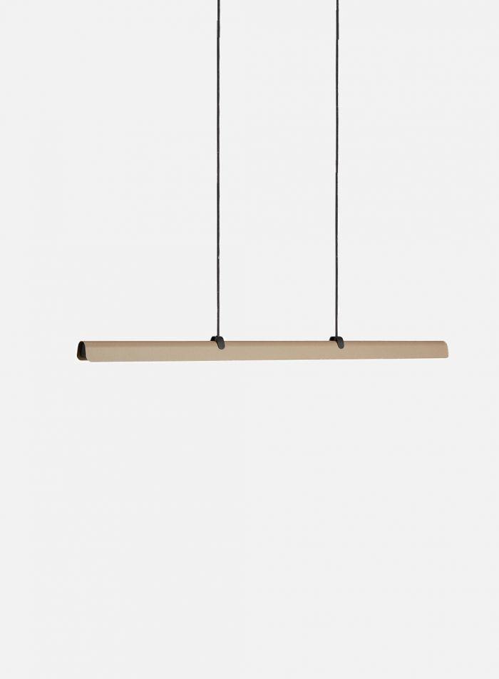 Fold langbordslampe - sand