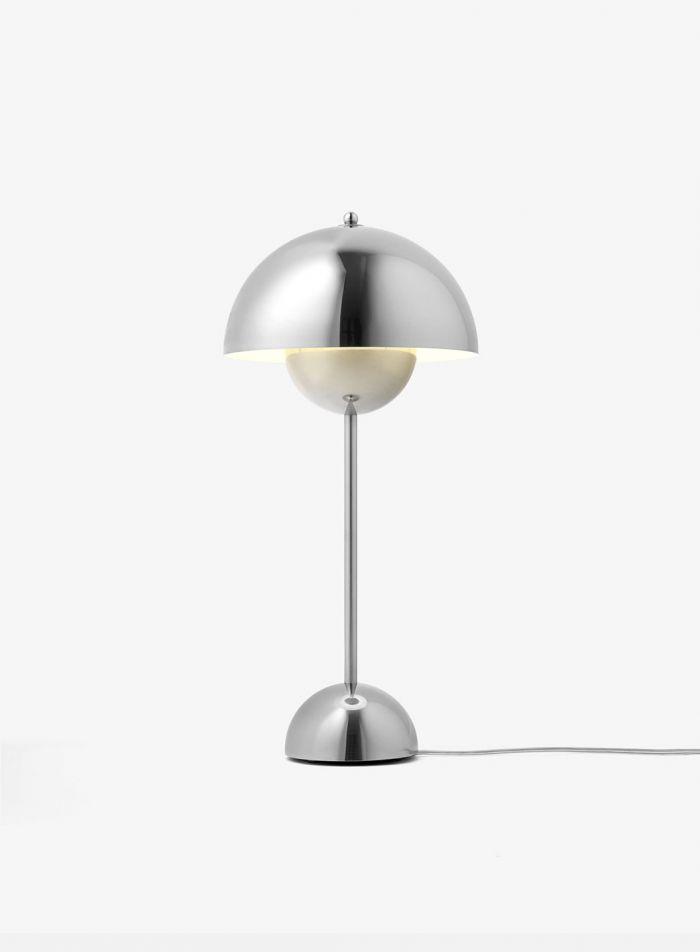 Flowerpot VP3 bordlampe - blank rustfritt stål